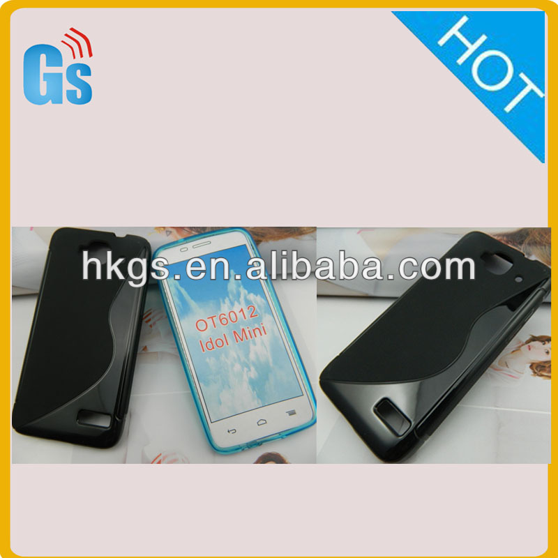 S Line Gel TPU Case Cover for Alcatel One Touch Idol Mini 6012 6012A 6012D