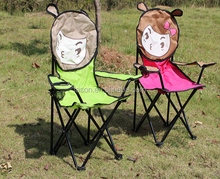 good quality polular style outdoor leisure kids animal cartoon folding camping chair sales