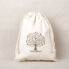 2016 nice fashion white high quality cotton drawstring bag with logo