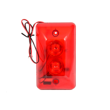 Red color Wire use LED Strobe siren For security alarm anti theft double buzzer inside 120DB louder speaker