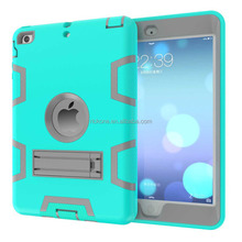 Hybrid Shock Absorbing Defender Rugged Silicone Hard Case With Kickstand Full Body Protective Cover For Apple iPad 2/3/4