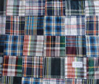 navy blue plaid fabric