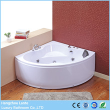 Promotional price size 1350mm classic corner whirlpool bathtub with control panel