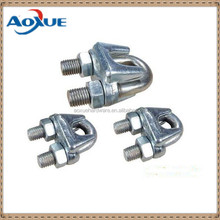 Zinc plating cable rope clip, u shaped wire rope clamp, cable wire fastener