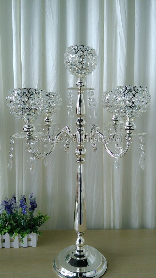 Host sale crystal candelabra centerpieces wedding