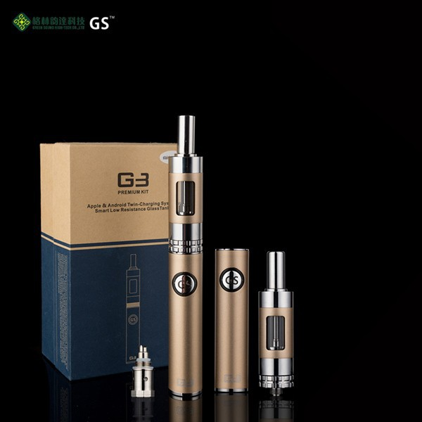 e-cigarette pen Bottom Double Charging 900mAh GS G3 kit e cig vaporizer
