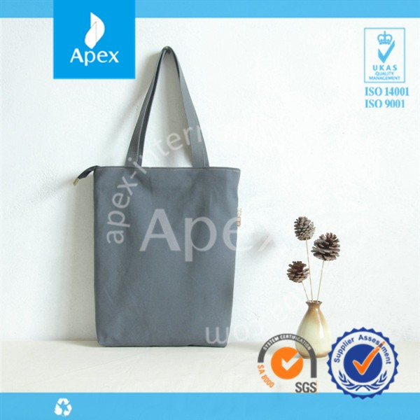 Promotional shopping canvas tote bag blank
