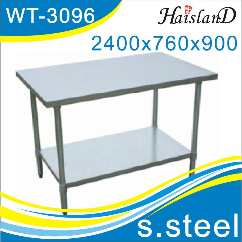 Hotel restaurant kitchen equipment,stainless steel work table/OEM/NSF approval/