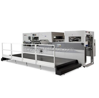 Cangzhou keshun 1300 colorful paper flat bed die cutting machine