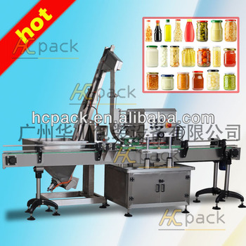 Three or four cap heads automatic glass jars screw capper