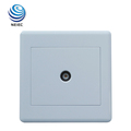 Plastic White color can customized Television Socket