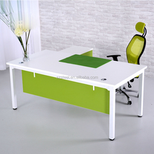 Office modesty panel office Furniture Table, Executive Manager Desk with Cabinet