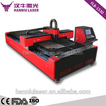 500w Fiber laser metal cutting machine for 5mm carbon steel cutting