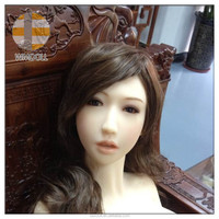 Life like full silicone sex dolls' head/Oral sexy real solid love doll's head for male