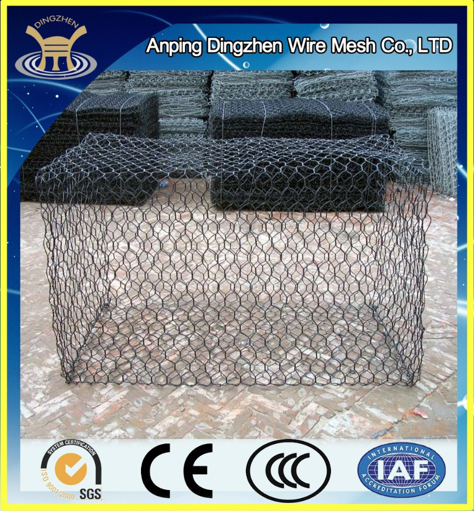 2016 High Quality Galvanized & PVC Coated Gabion Box/Basket For Stone Stocking