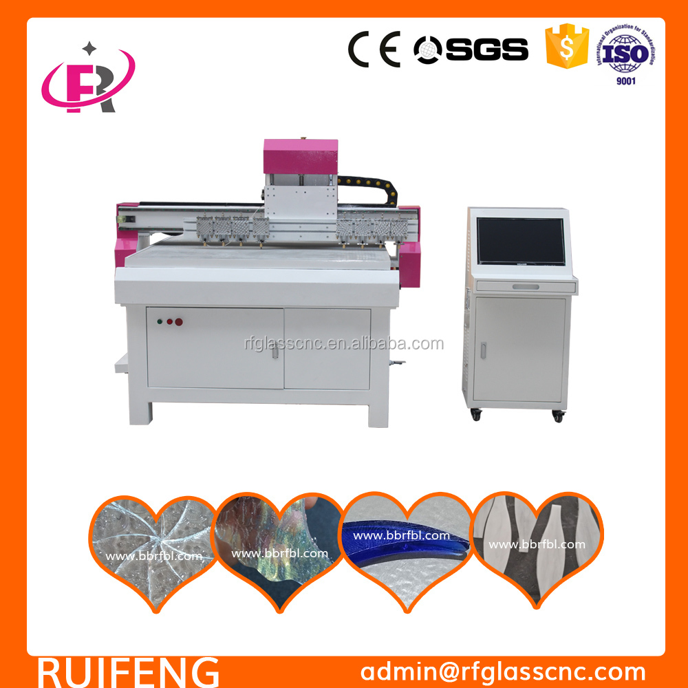cnc 3d Patterned Frosted glass cutting machine,2~3mm thickness