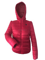 heated winter woman jacket, electric thermo jacket