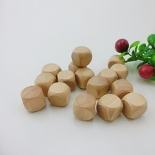 Wholesale 20mm blank wooden dice