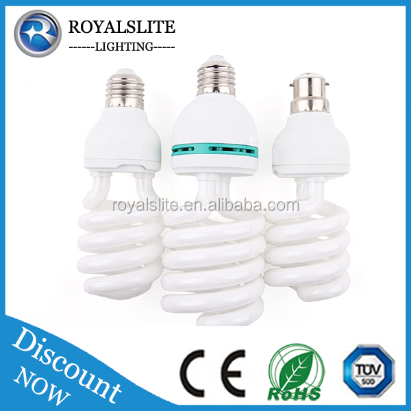 Hot seller U shape Lotus Sprial CFL SKD 2 parts, Energy Saving CFL light Bulb