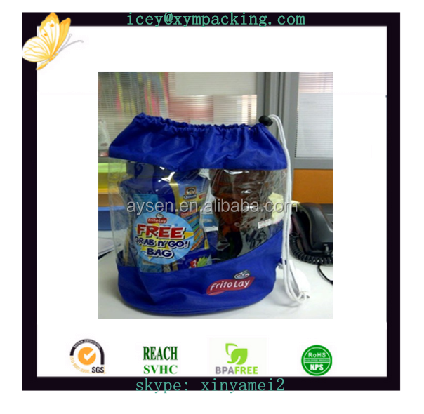 hot sell cheap recyclable transparent soft PVC shrink zipper plastics rubber cosmetic bag