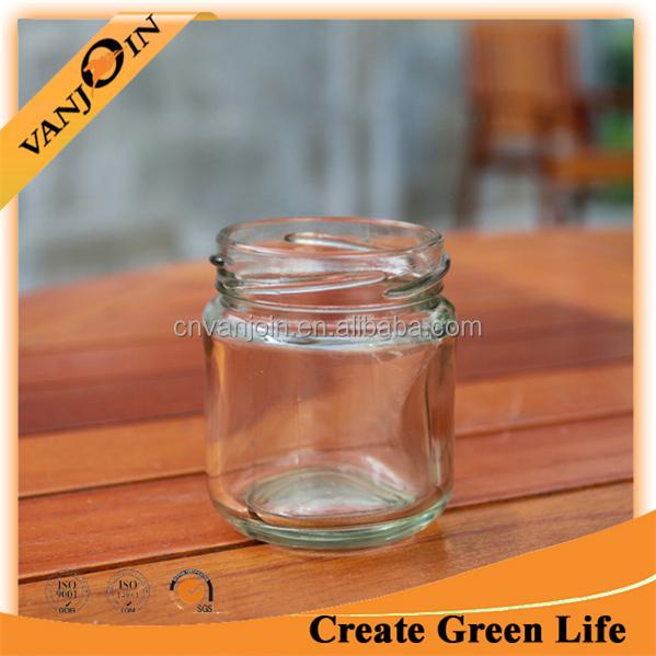 unbreakable glass jam jars for sale with golden lids buy. Black Bedroom Furniture Sets. Home Design Ideas
