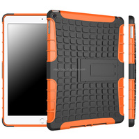 Hybrid Rugged Hard Silicone Stand Combo Case for ipad air 2