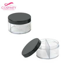 3g decorative cream jar black plastic sifter packaging box cosmetic powder loose powder jar box with sifter