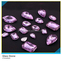 Bling Bling LT.Amethyst Color Sew On Glass Stone For Shoes Decoration