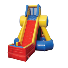 Adults inflatable climbing jump dry/ wet slide for rental