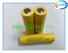 In stock !!LG HE4 battery 18650 rechargeable battery LG HE4 3.7v 2500mah 35A li-ion battery