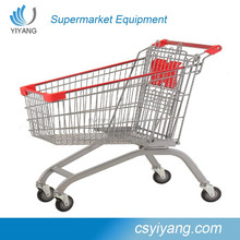 clear lacquer Supermarket trolley cart,Supermarket cart trolley