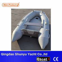 (ce) PVC material 2.3m 2 persons durable inflatable boat rubber for sale