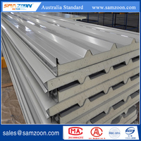 PU/PIR Polyurethane Corrugated Sandwich Panel Insulated Metal faced for roof board