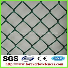 PVC chain link/american wire mesh fence(anping, manufacturer)