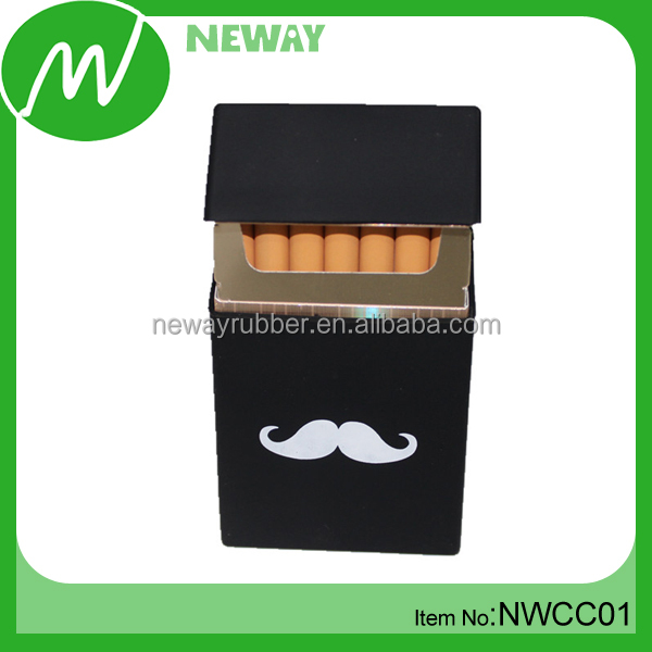 Cute Printing Silicone Black Cigarette Case