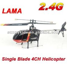2.4G RC Single Blade 4CH Mini Helicopter LAMA Helicopter