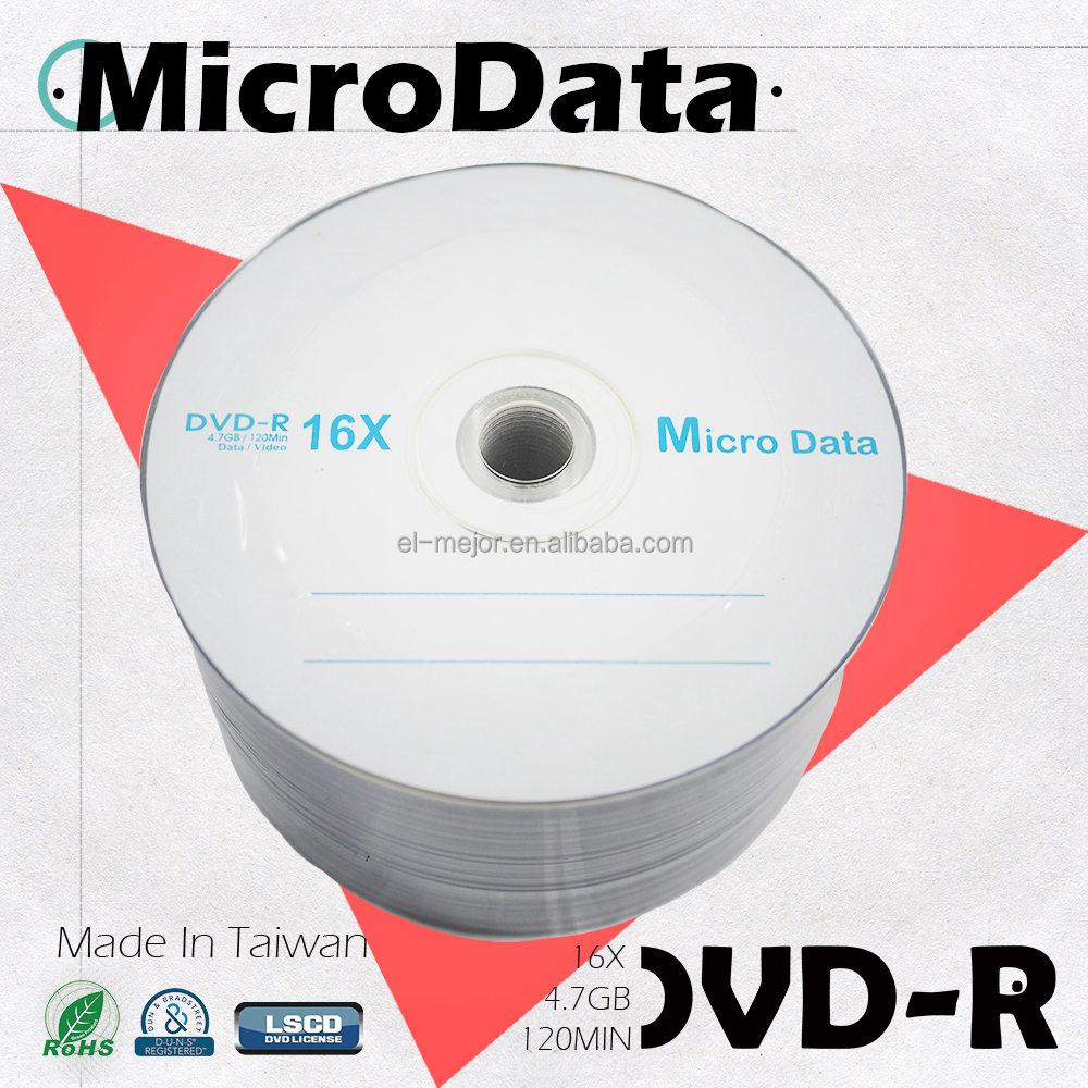 Taiwan cheap quality blank DVD-R for music or car dvd dvd movies