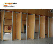 Collapsing Aluminium Movable Wooden Partition Walls For Huge Area