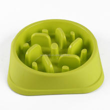 High quality windmill shape Colorful happy hunting pet feeder bowl healthy diet dog bowl slow eat feeding bowl