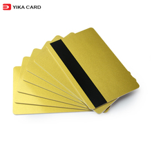Factory direct sale gold base plastic pvc vip card printing with magnetic stripe