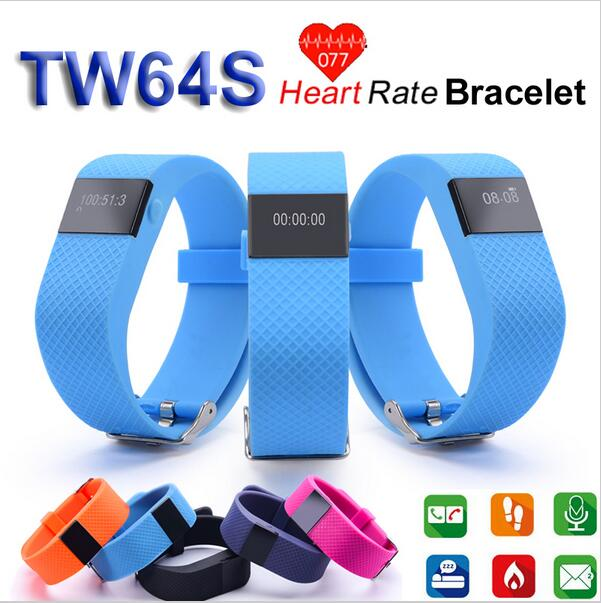 Bluetooth Smart Watch TW64S Wristband Heart Rate Monitor Health Sleep Tracker Smart Bracelet For Android IOS