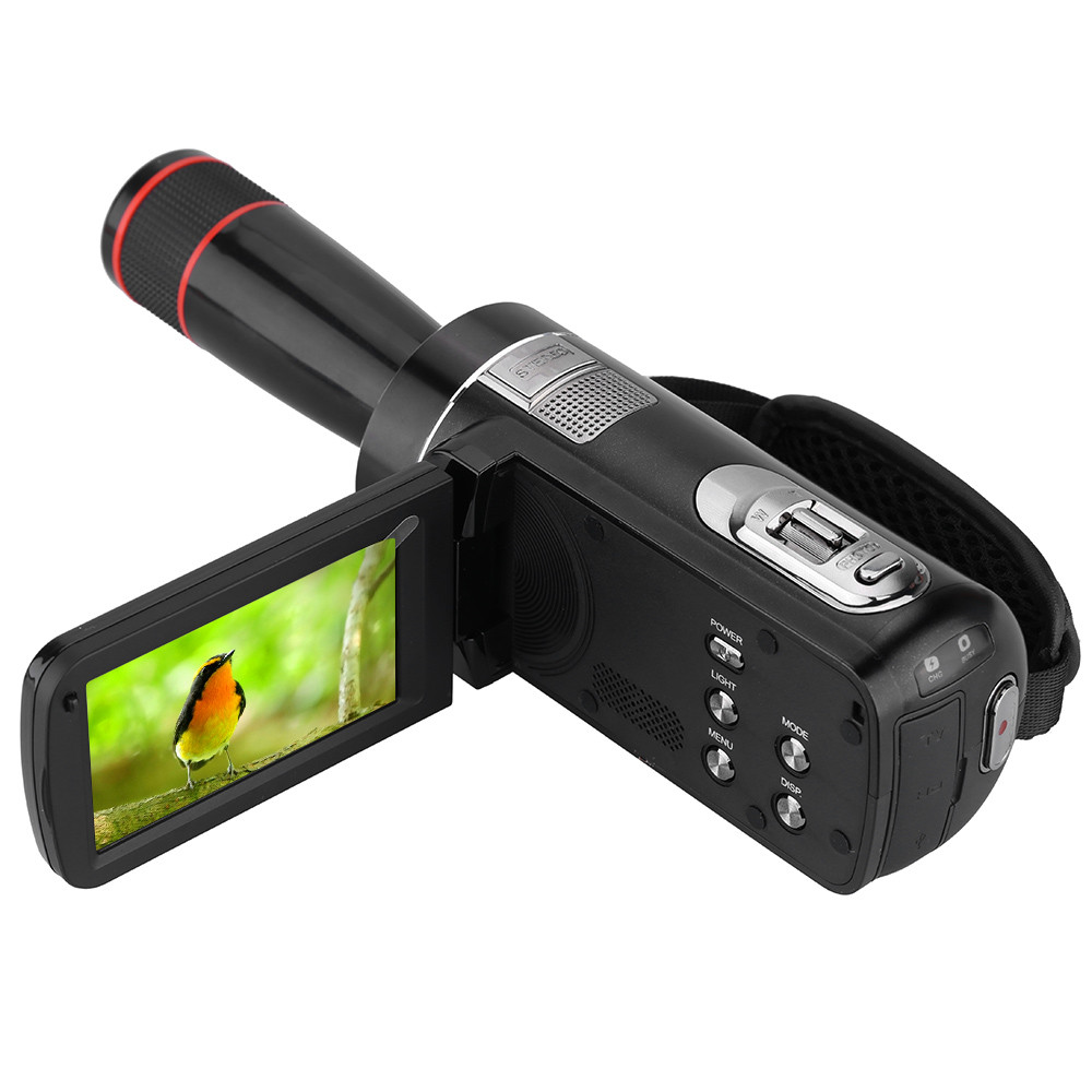 New ORDRO HDV-Z8 1080P Full HD 16x Digital Zoom Telescopic Digital Video Camera Camcorder with LCD Touch Screen Max.24MP