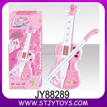 Enjoyable music instrument plastic pink kids toy violin