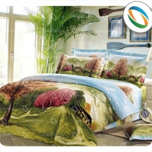 Hot Selling Printed Bed Set Polyester Bed Sheet Set