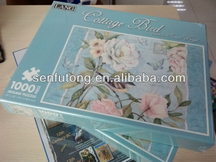 customize printing color , sublimation blank paper puzzles , 1000 pieces jigsaws for printing