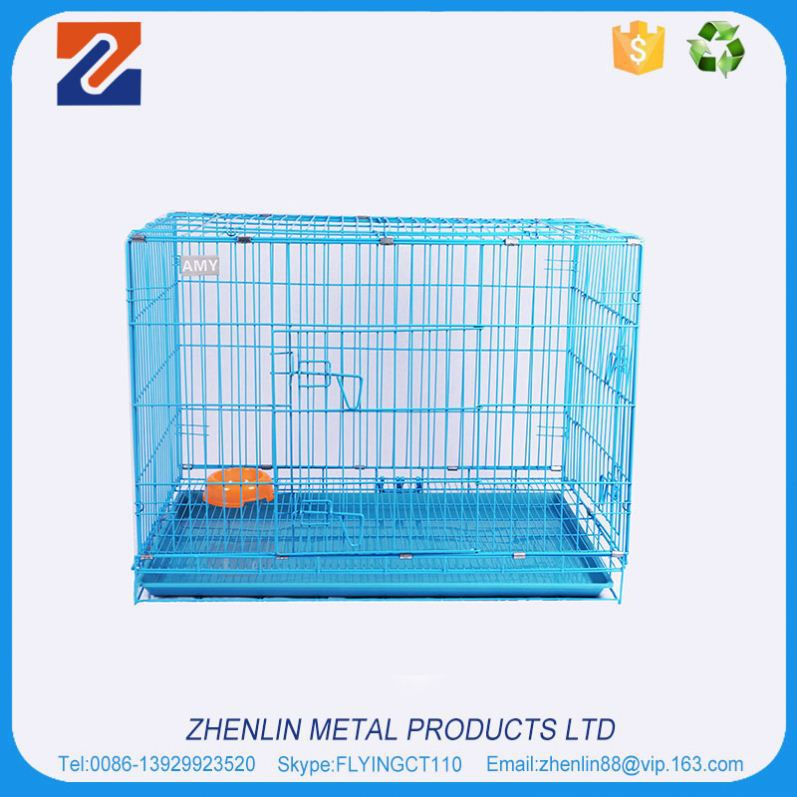 Alibaba china high quality dog cage with solid wheels