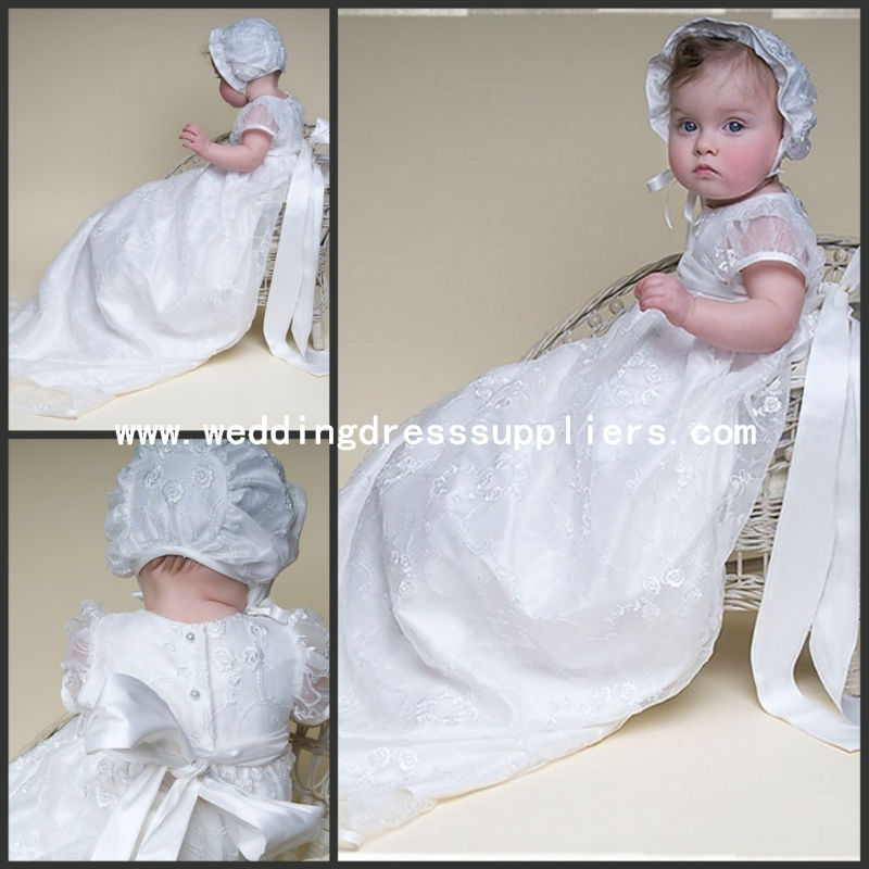 Fi10 New Style White Lace Heirloom Christening Gowns