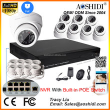 2MP HD IP Camera NVR poe Kits 8ch security video surveillance systems for Home