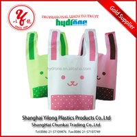 Fashionable Foldable Cheap Handle Plastic Shopping Gift Packaging Bag