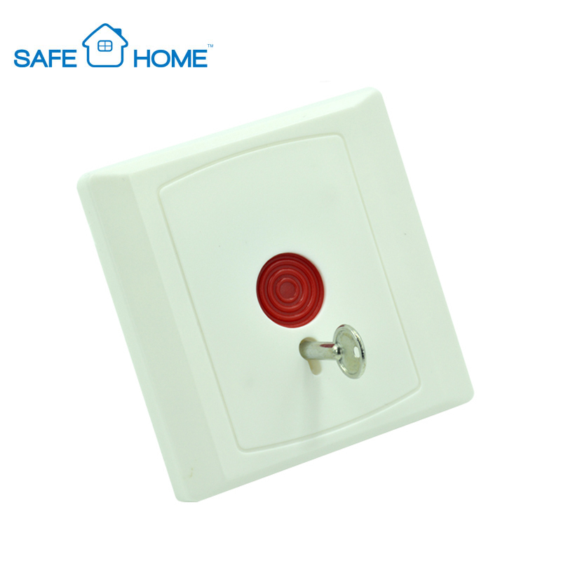 Smart Small Wall Mounted Key Reset Wired Emergency Panic Button For Security Alarm System